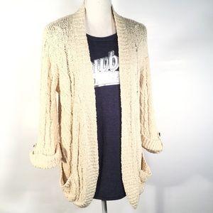 LOVESTITCH | Boho - Cotton Cable Knit Cardigan- M